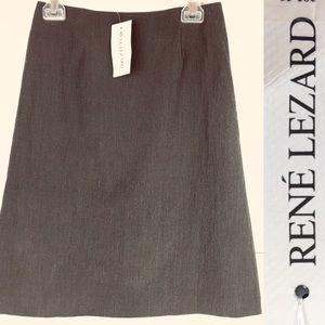 NWT RENE LEZARD A-Line Viscose Skirt